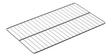 GRILLE PLATE INOX GN1/1 53X32,5cm TRAVERSES Ø7mm